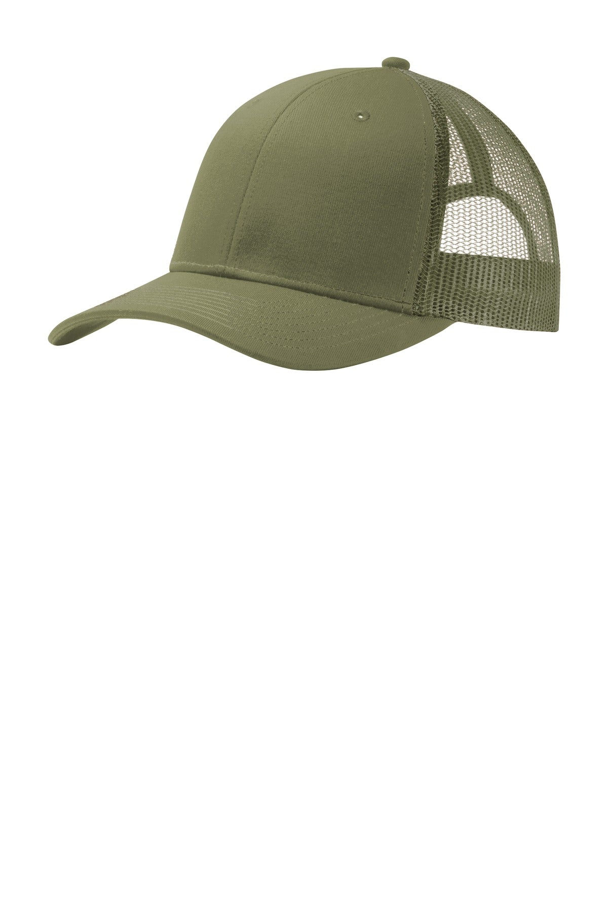 Olive Drab Green Port Authority Snapback Trucker Cap