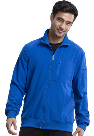 Mens Zip Front Warm-up Jacket