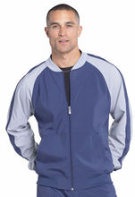 Mens Colorblock Zip Up Warm-Up Jacket