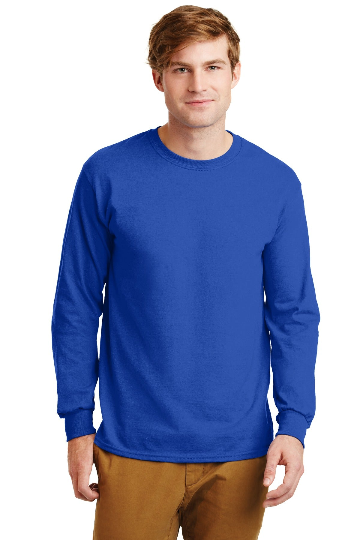Royal Gildan Ultra Cotton 100% Cotton Long Sleeve T-Shirt.