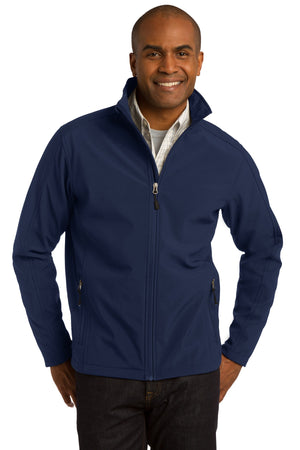 Dress Blue Navy Port Authority Tall Core Soft Shell Jacket.