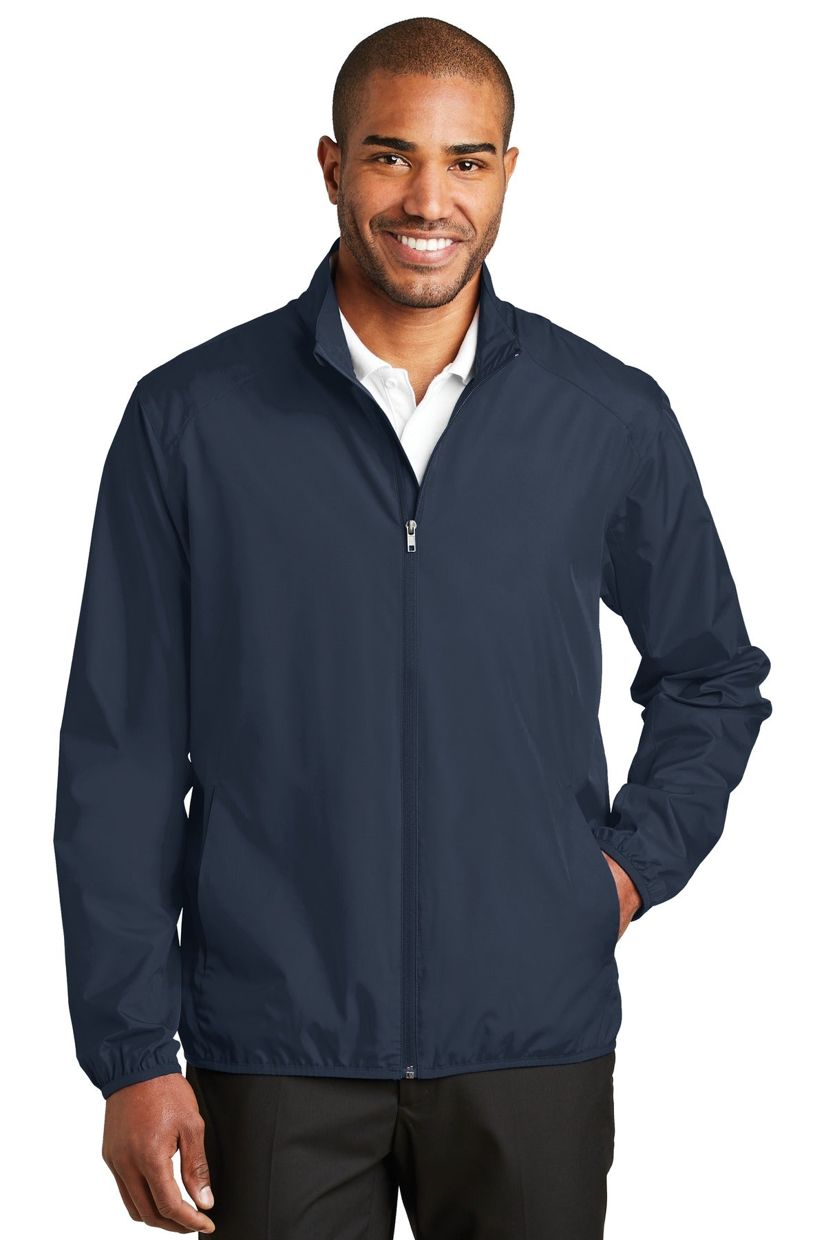 Gusty Grey Port Authority Core Classic Pique Polo.