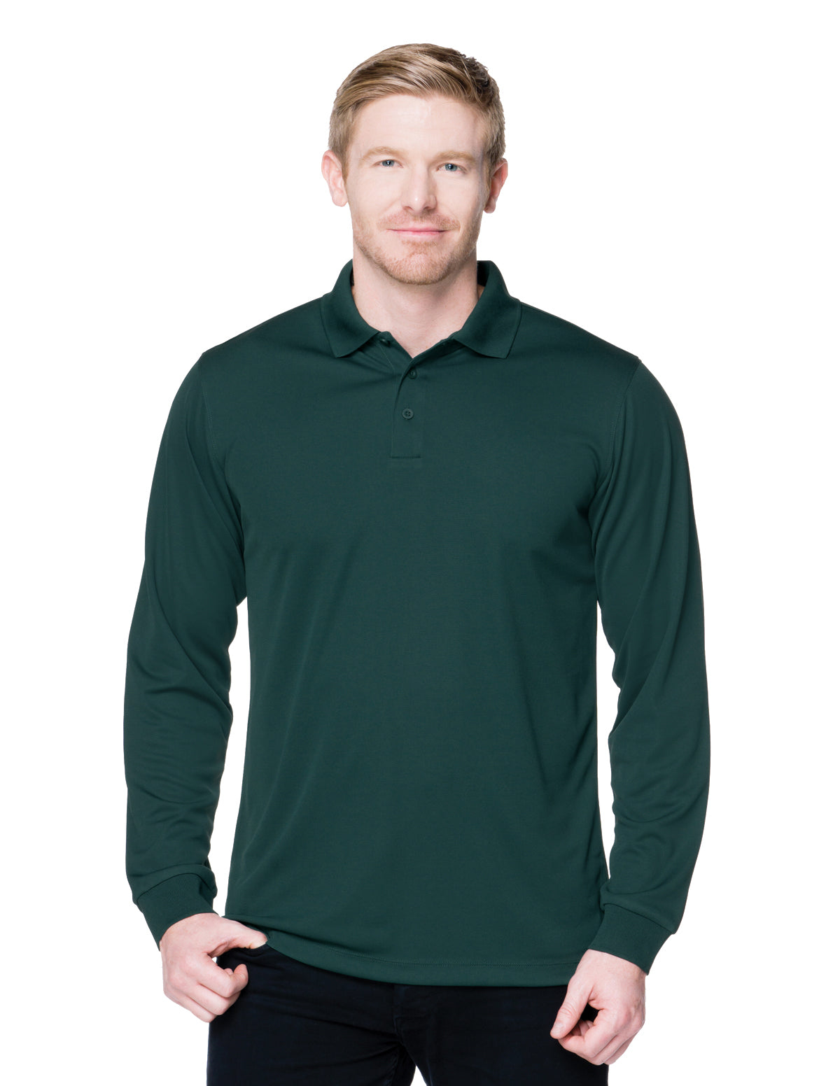Vital Long Sleeve-5 Oz 100% Polyester Mini-Pique Long Sleeve Polo Featuring Moisture-Wicking