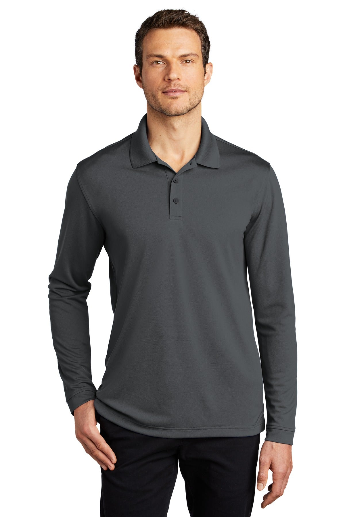 Turquoise Port Authority Heavyweight Cotton Pique Polo.