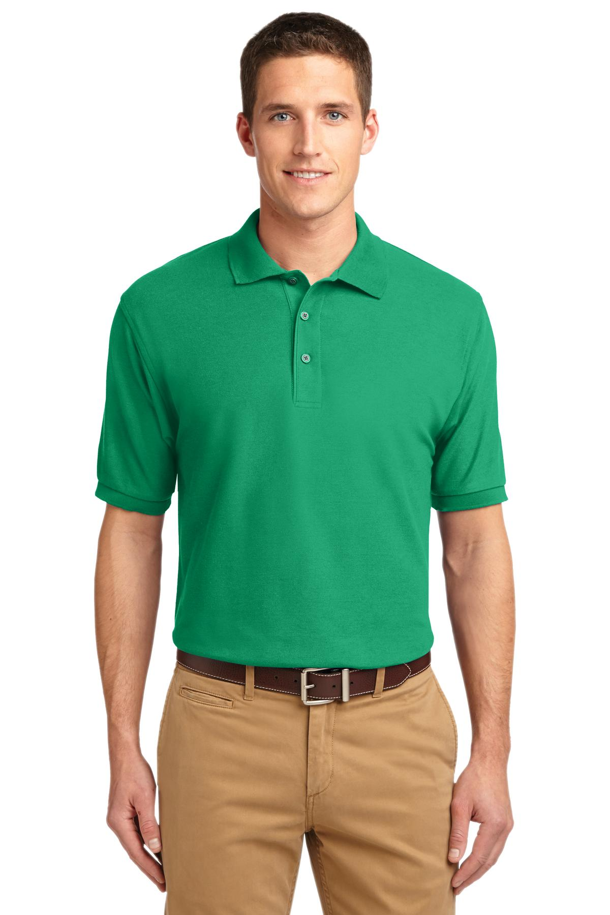 Court Green Port Authority Extended Size Silk Touch Polo.