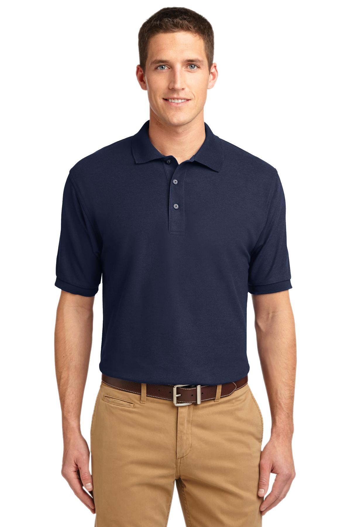 Navy Port Authority Silk Touch Polo.
