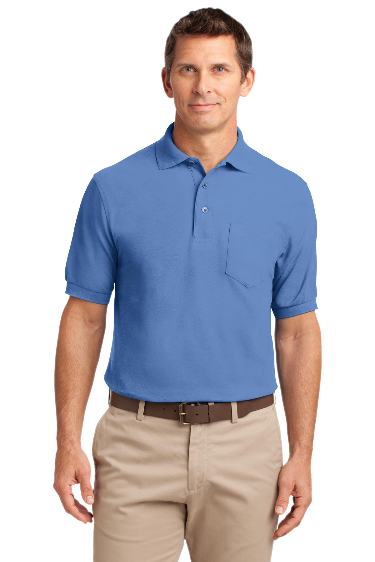Navy Port Authority Dry Zone® Ottoman Polo.