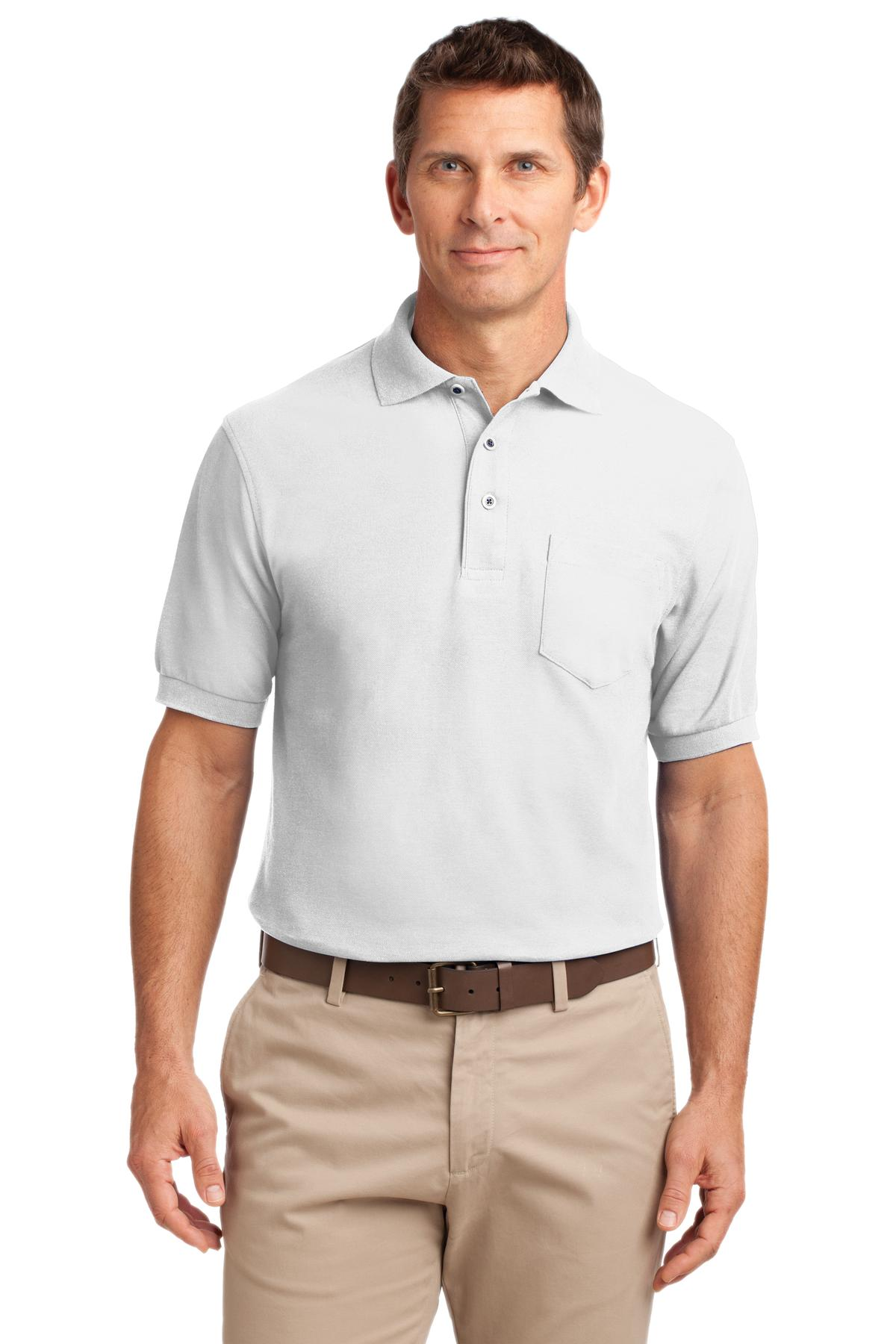 White Port Authority Stain-Release Polo.