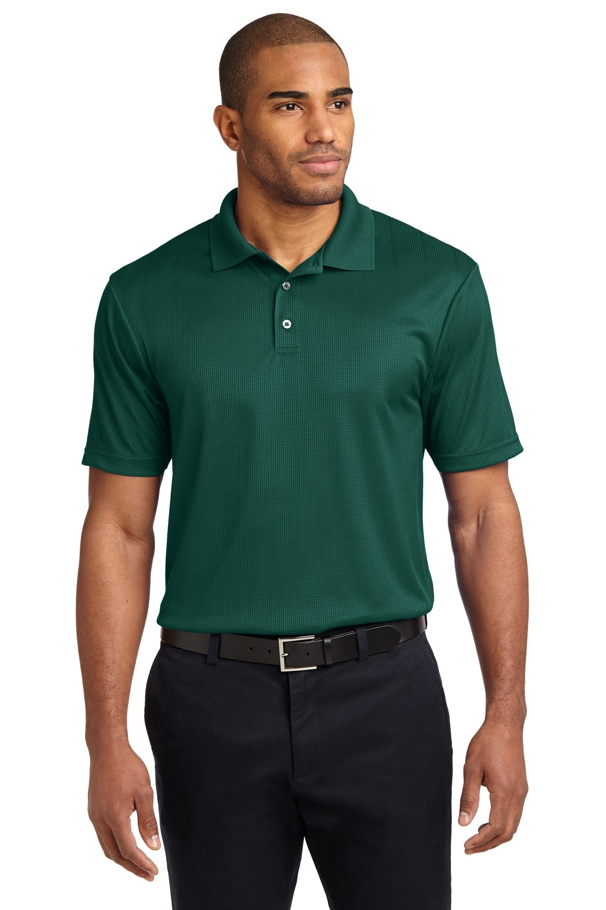 Navy Port Authority Silk Touch Performance Polo.