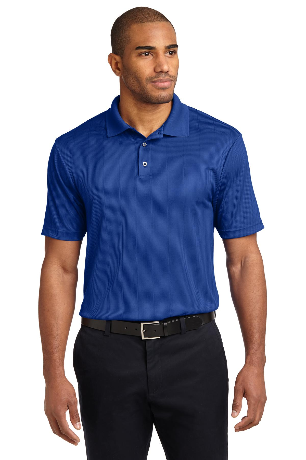 Red Port Authority Silk Touch Performance Polo.