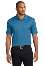 Carolina Blue Port Authority Silk Touch Performance Polo.