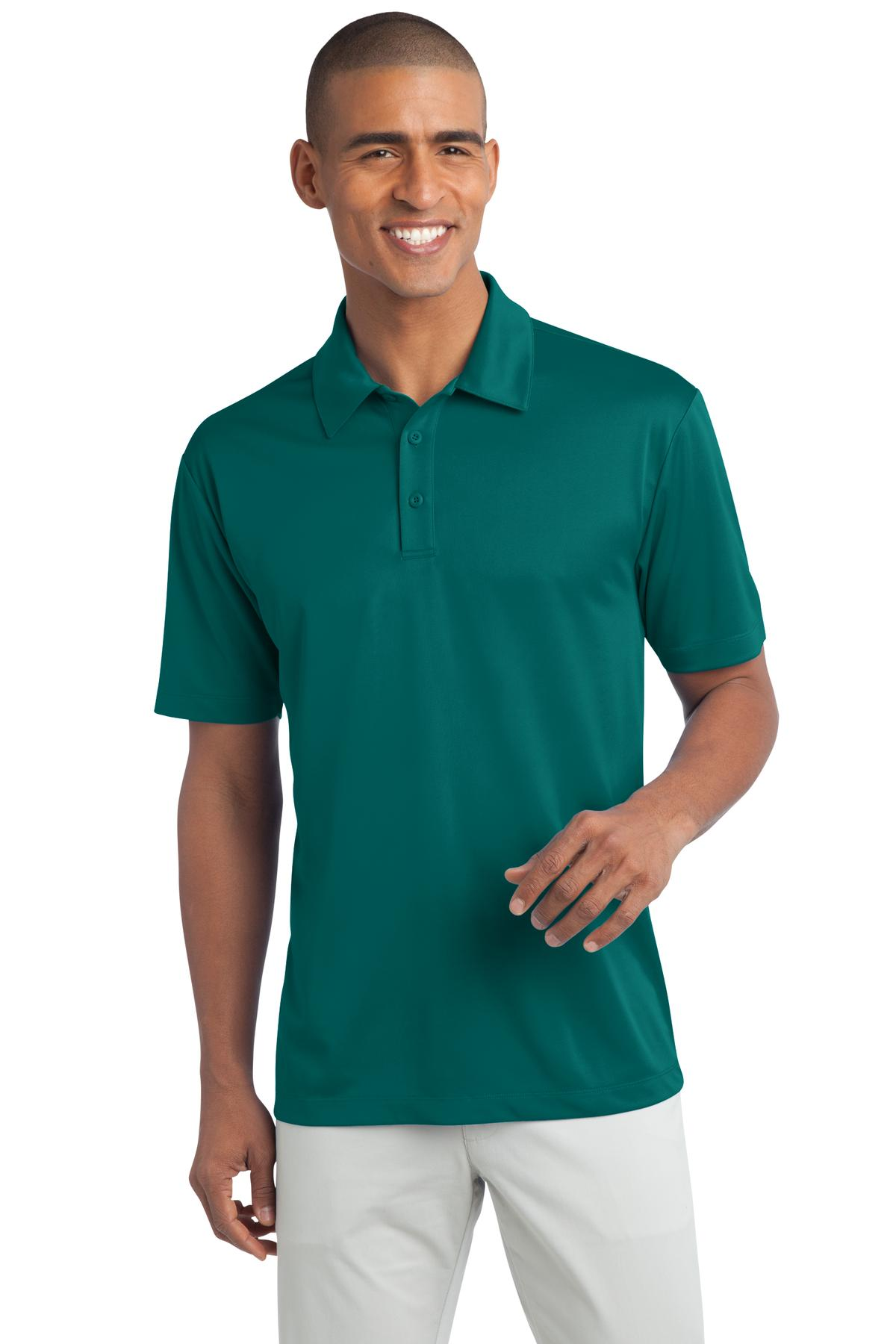 Teal Green Port Authority Silk Touch Performance Polo.