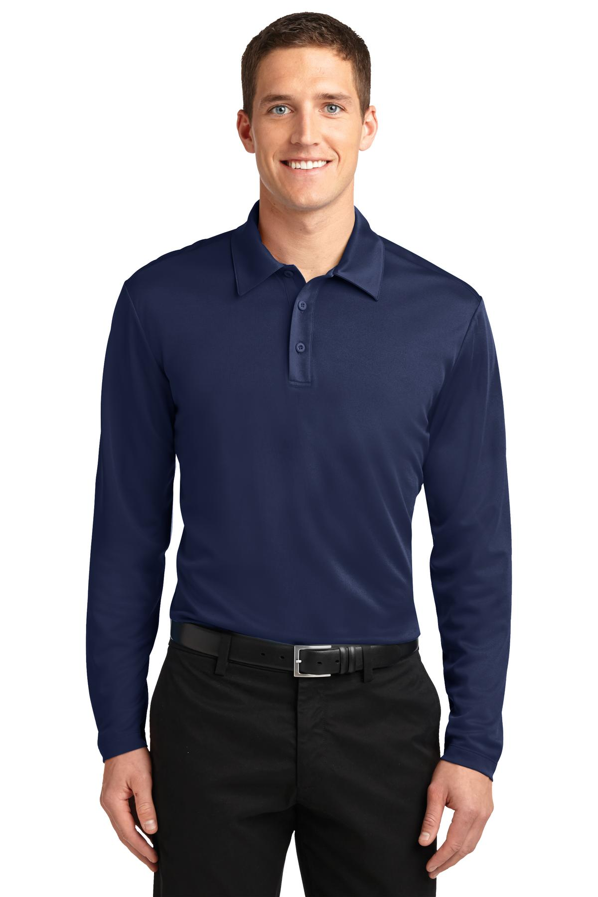 Grey Smoke Port Authority Cotton Touch Performance Polo.