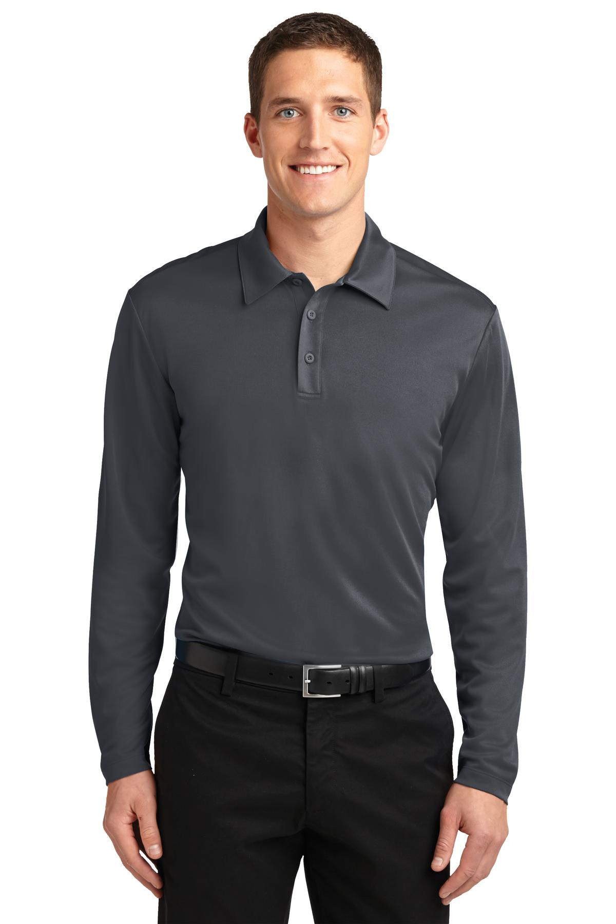 Estate Blue Port Authority Cotton Touch Performance Polo.