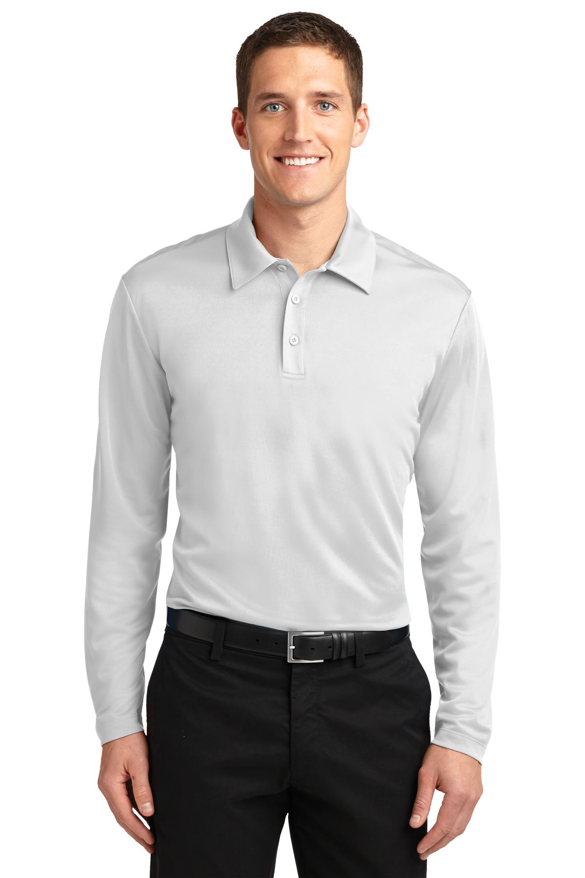 Frost Grey Port Authority Cotton Touch Performance Polo.