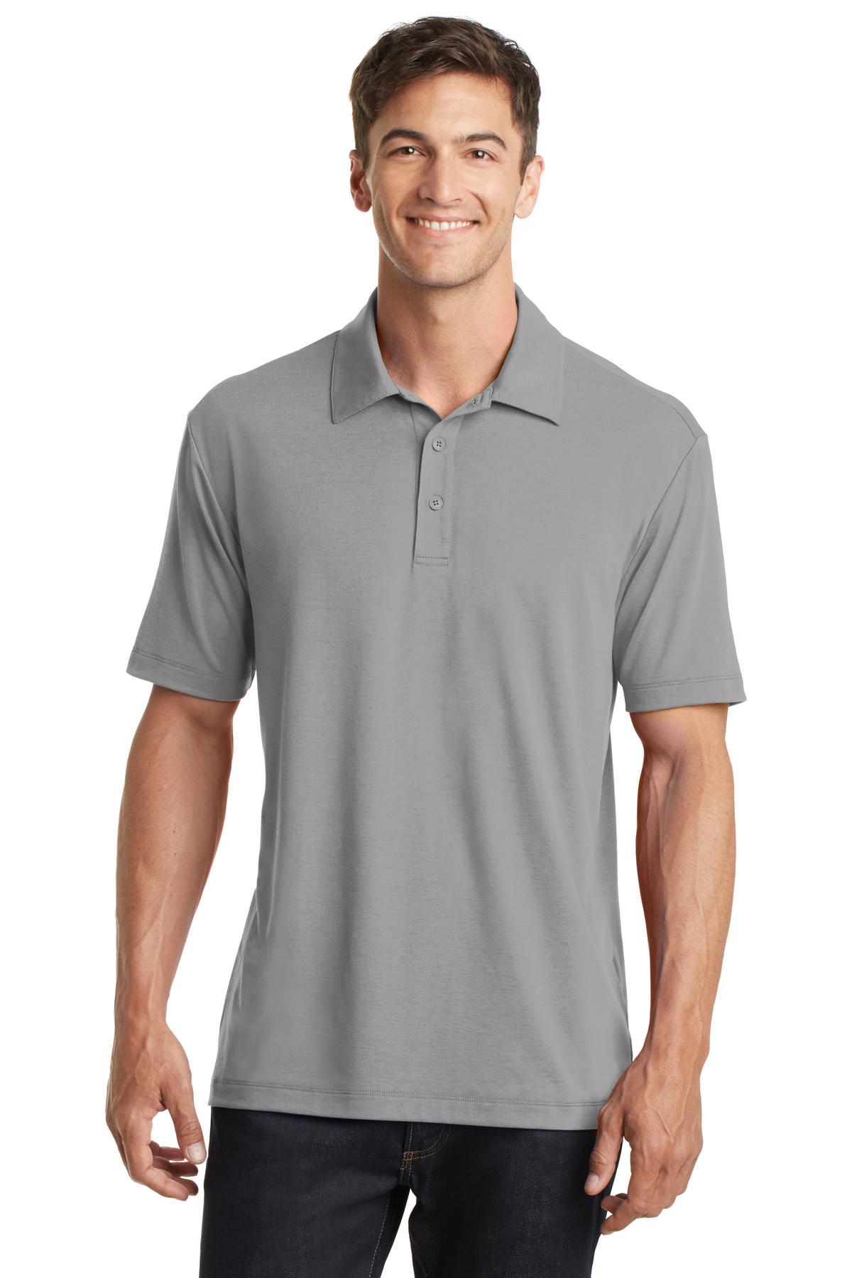 Rich Red Port Authority ® UV Choice Pique Polo