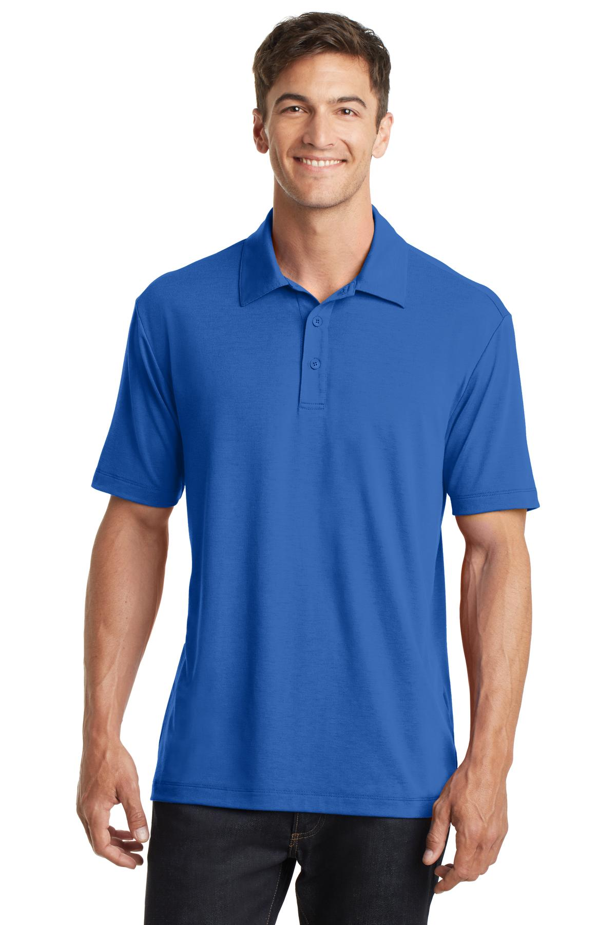 Sterling Grey Port Authority ® UV Choice Pique Polo