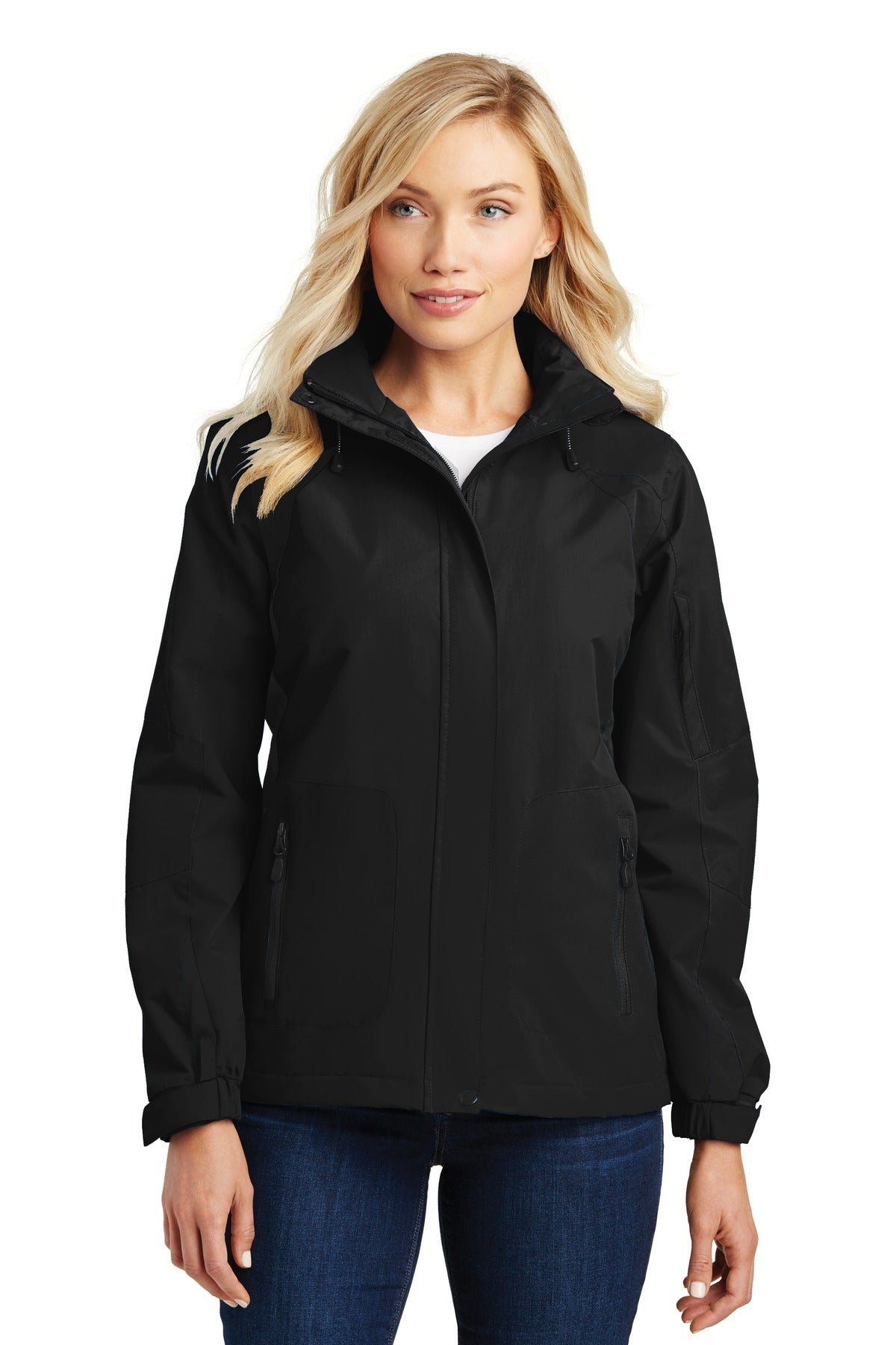 True Navy Port Authority Ladies Torrent Waterproof Jacket.