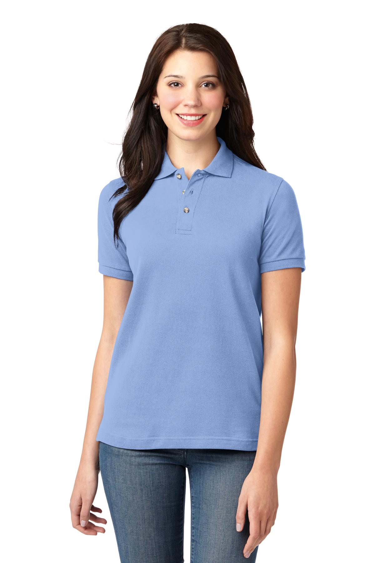 Mint Green Port Authority Ladies Silk Touch Polo.