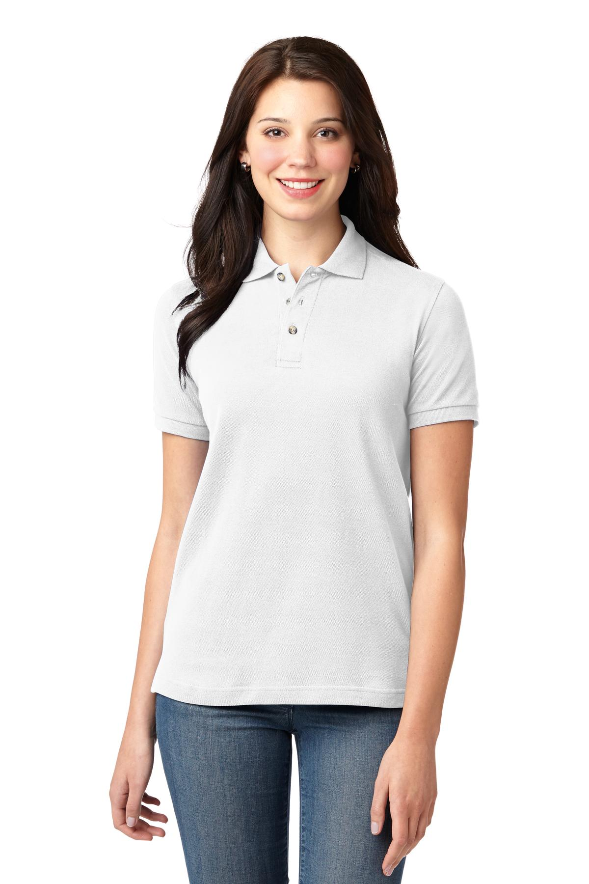 Hibiscus Port Authority Ladies Silk Touch Polo.