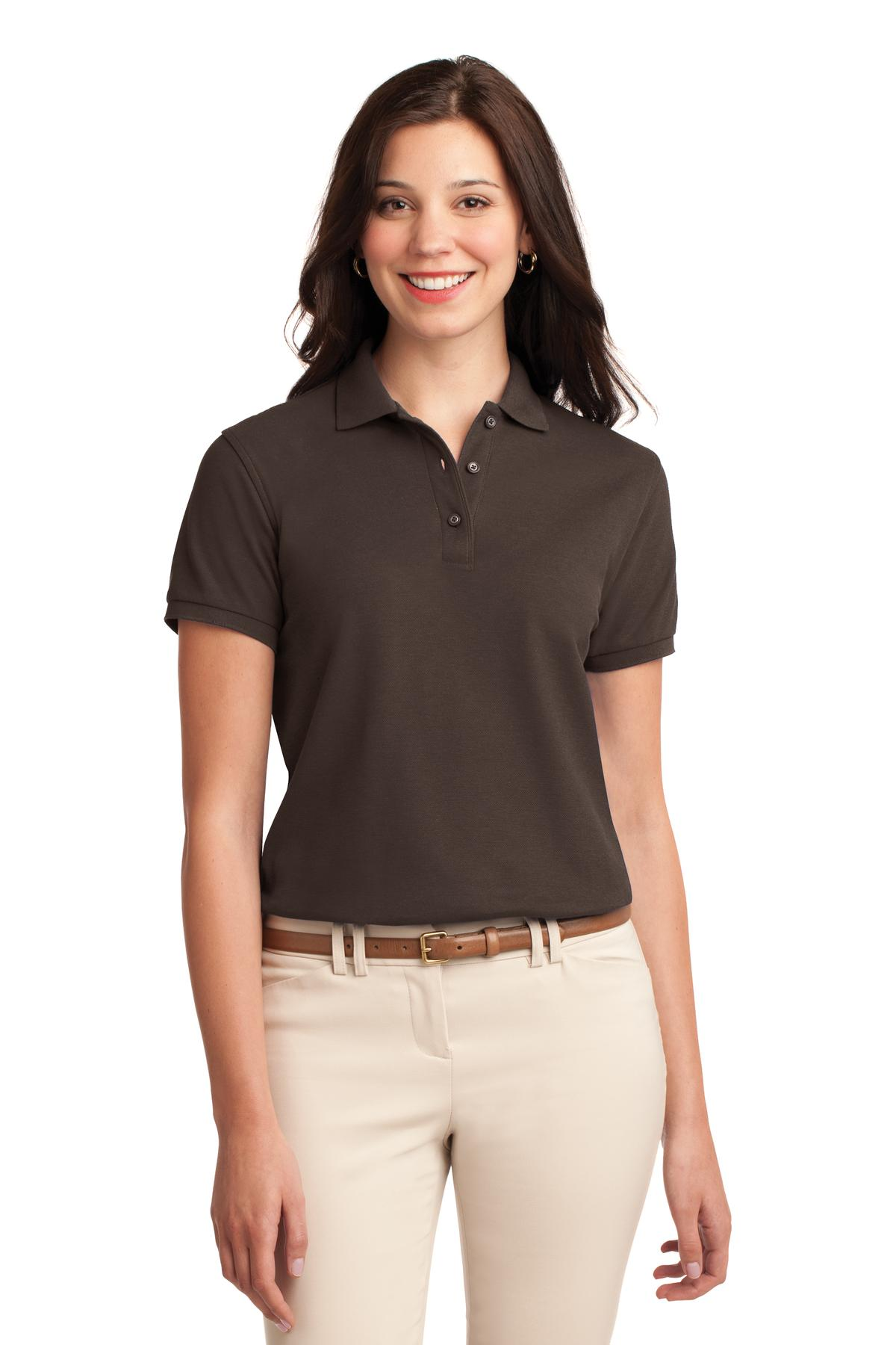 Maui Blue Port Authority Ladies Silk Touch Polo.