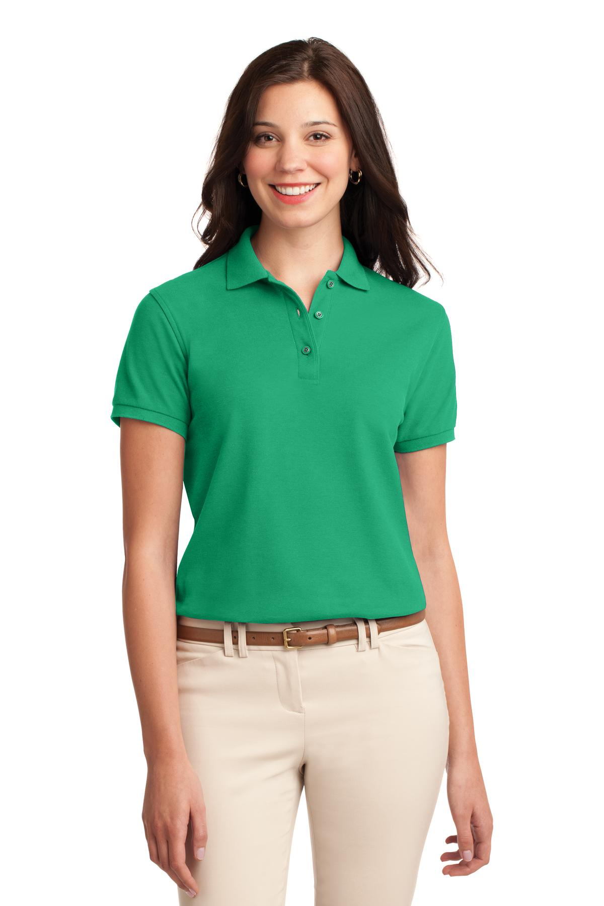 Coffee Bean Port Authority Ladies Silk Touch Polo.