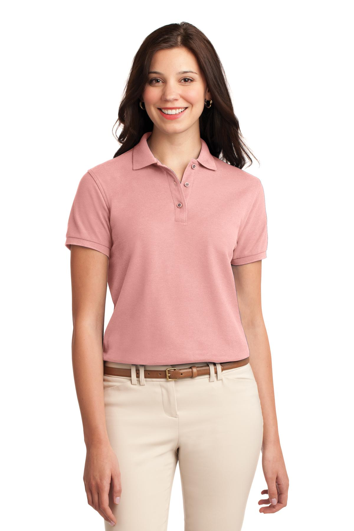 Clover Green Port Authority Ladies Silk Touch Polo.