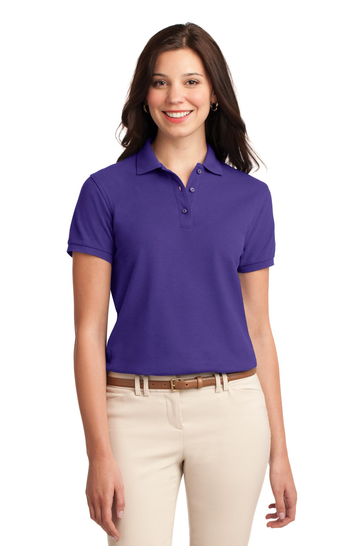Deep Berry Port Authority Ladies Silk Touch Polo.
