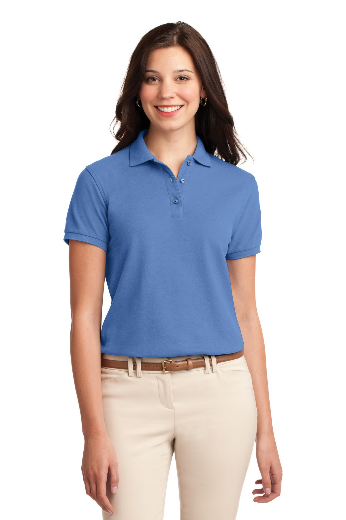 Strong Blue Port Authority Ladies Silk Touch Polo.