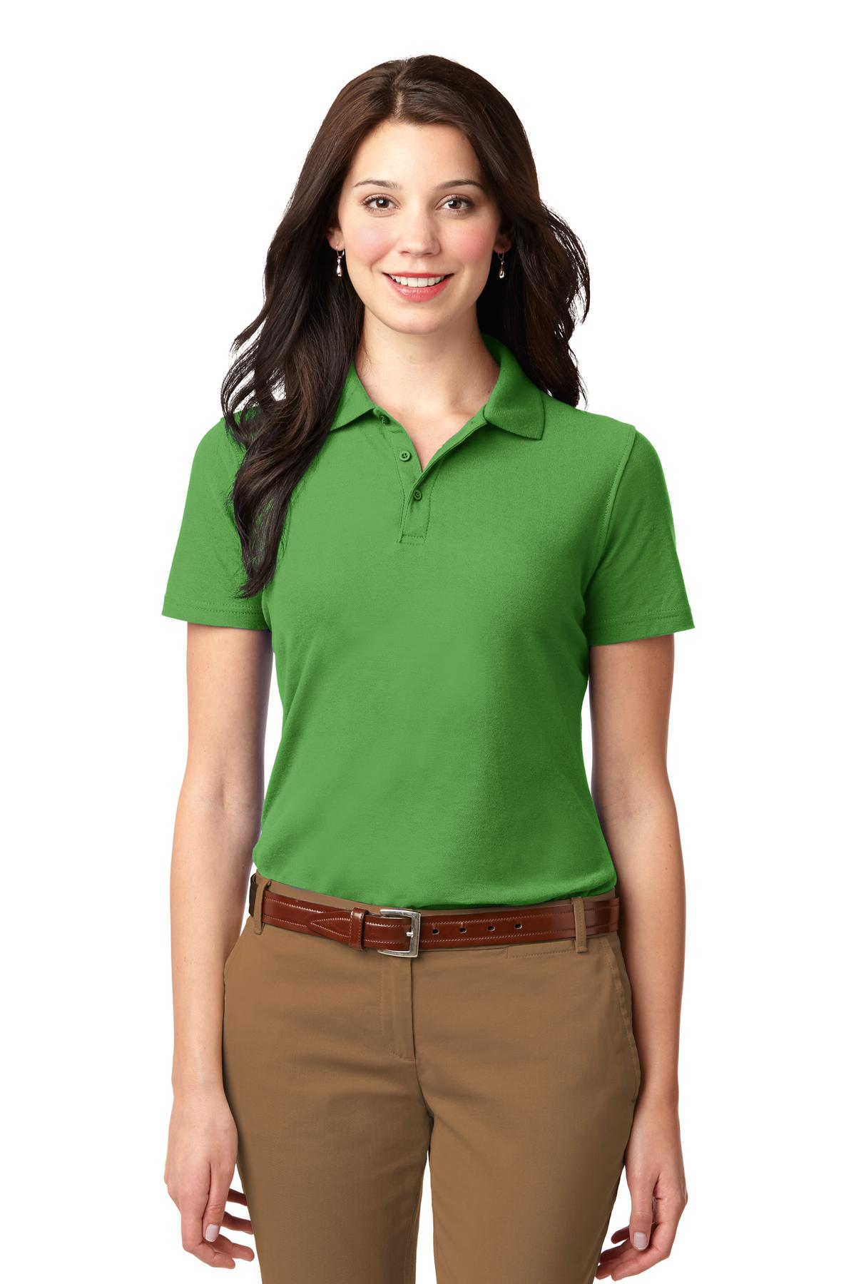 Red Port Authority Ladies Silk Touch Performance Polo.