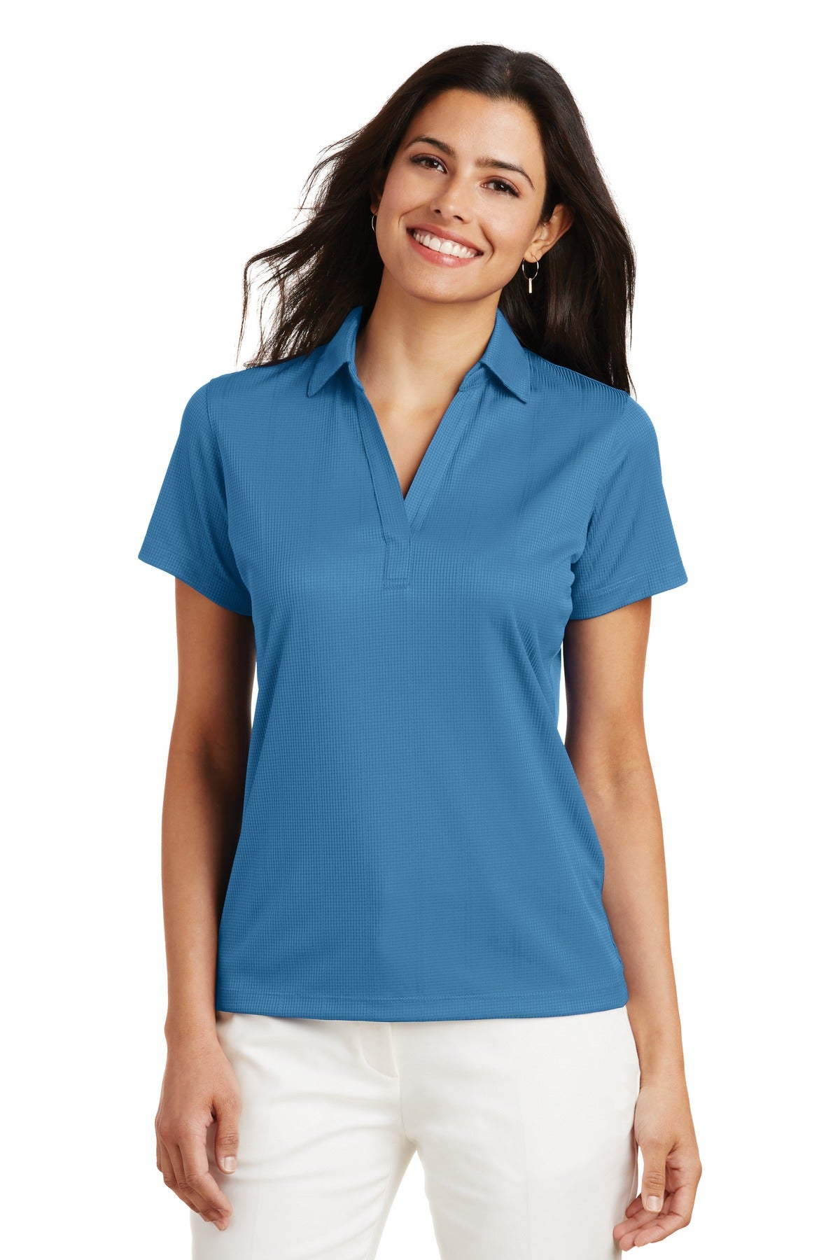 Royal Port Authority ® Ladies Silk Touch Performance Long Sleeve Polo.