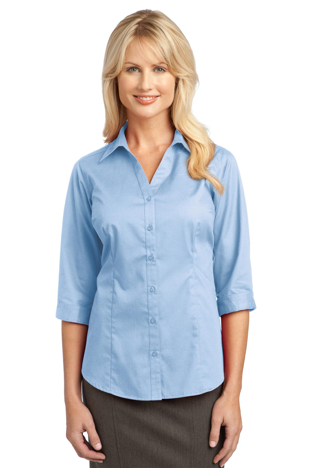 Aquamarine Port Authority Ladies Dry Zone® UV Micro-Mesh Polo.