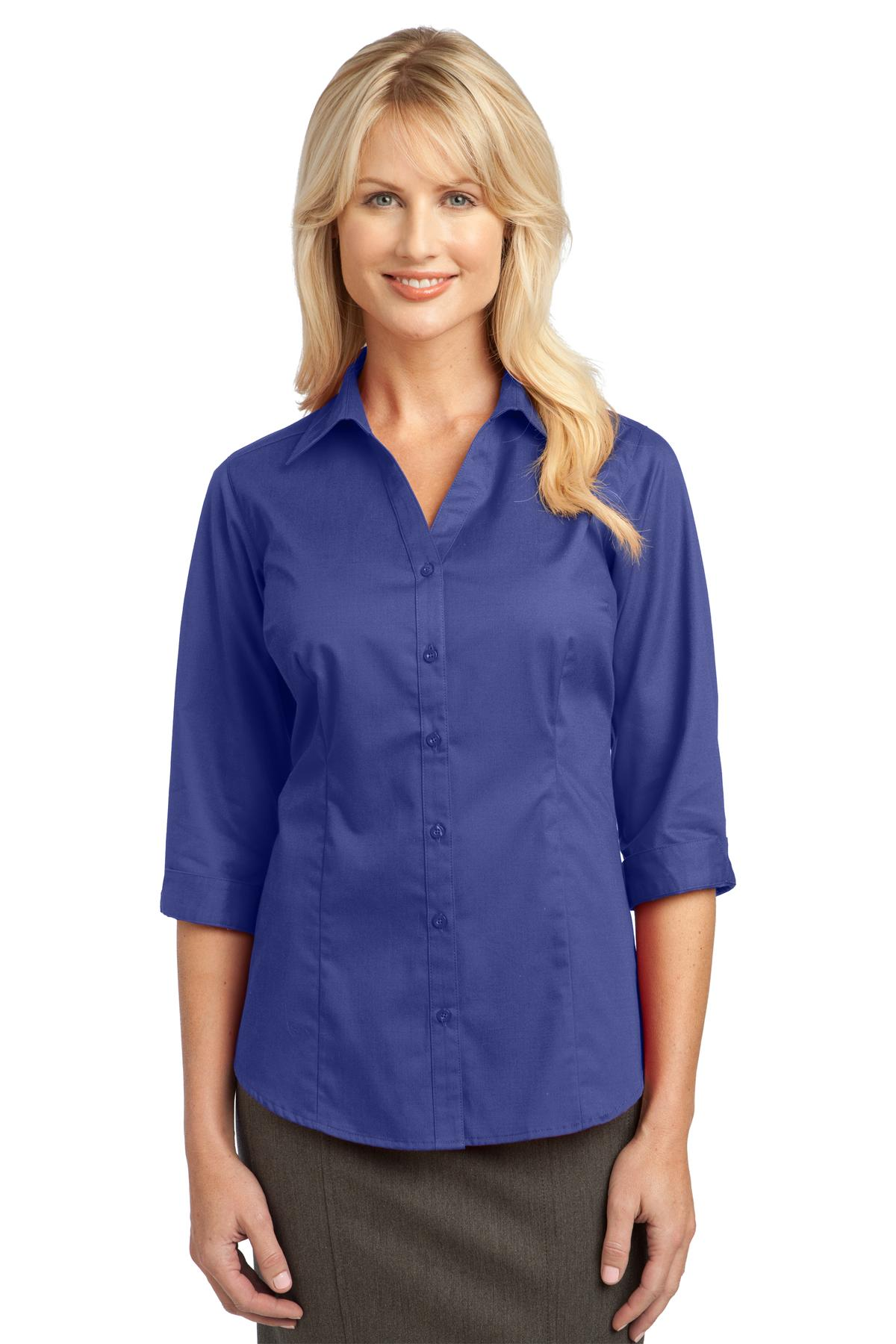 Coral Splash Port Authority Ladies Dry Zone® UV Micro-Mesh Polo.