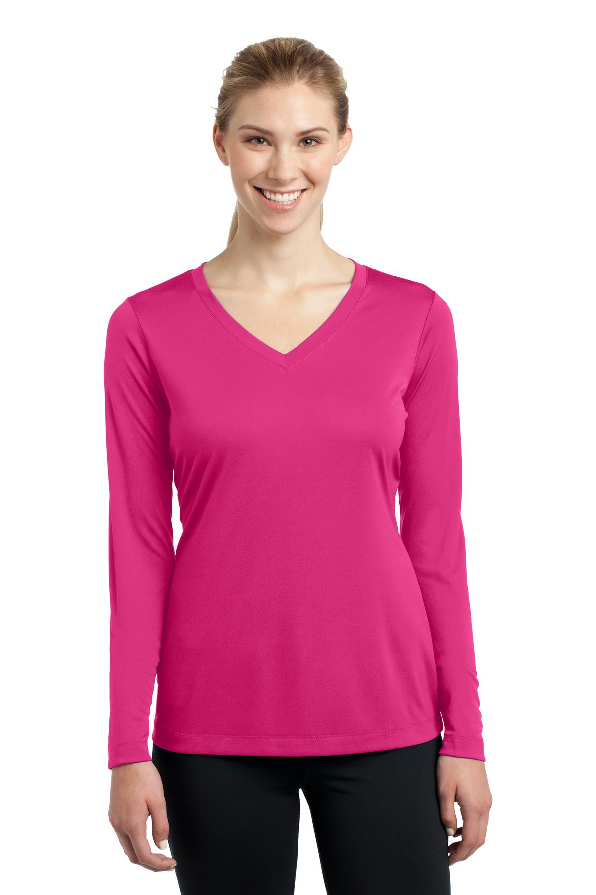 Sport-Tek Ladies Long Sleeve PosiCharge Competitor V-Neck T-Shirt