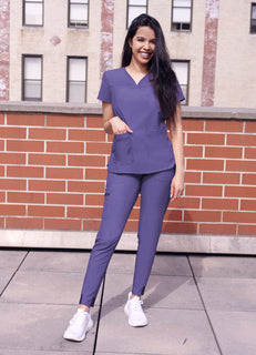 Sweetheart V-neck Scrub Top