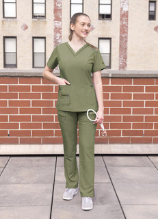 Women's Elevated V-neck Scrub Top