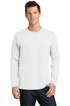 White Port & Company Long Sleeve Fan Favorite T-Shirt