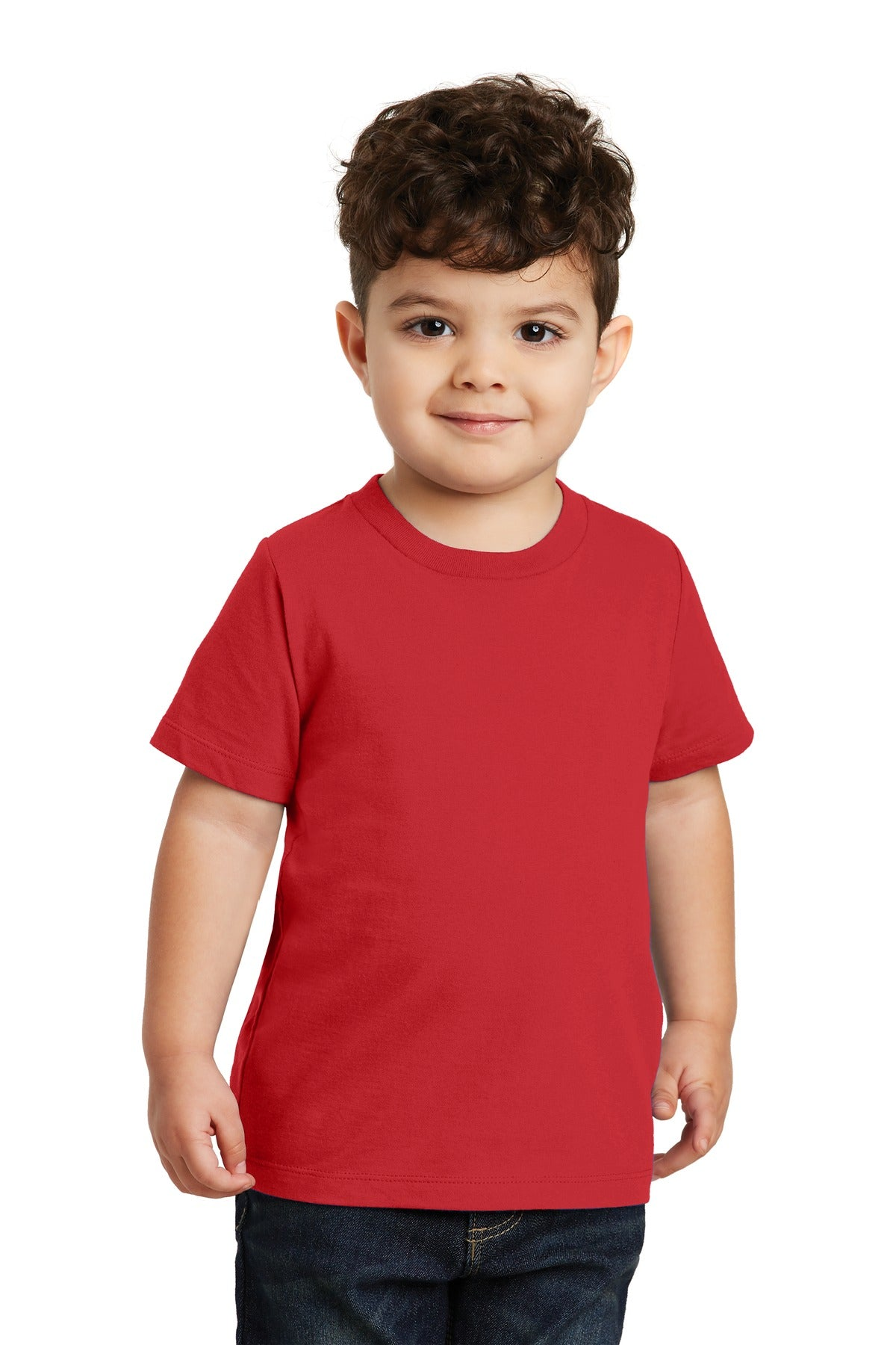 Bright Red Port & Company Toddler Fan Favorite T-Shirt