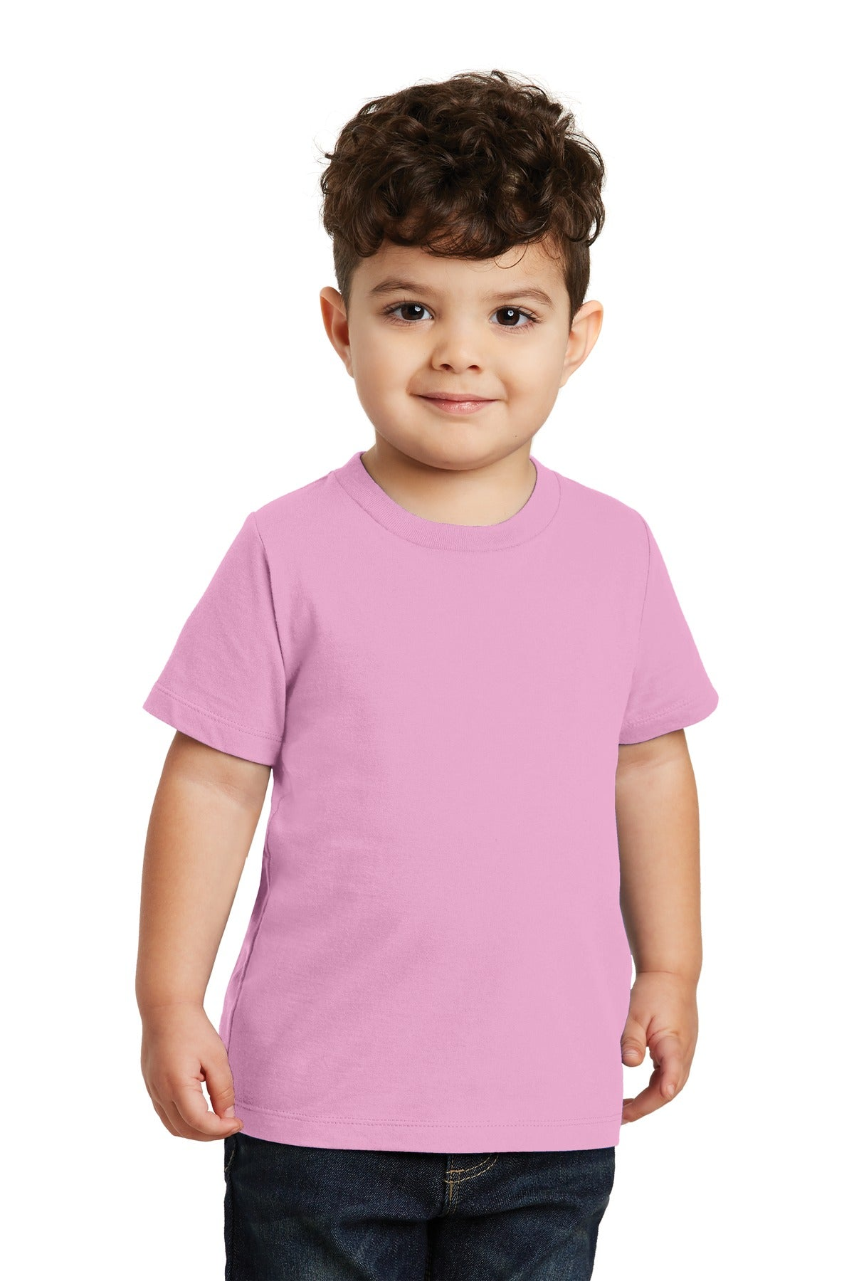 Candy Pink Port & Company Toddler Fan Favorite T-Shirt