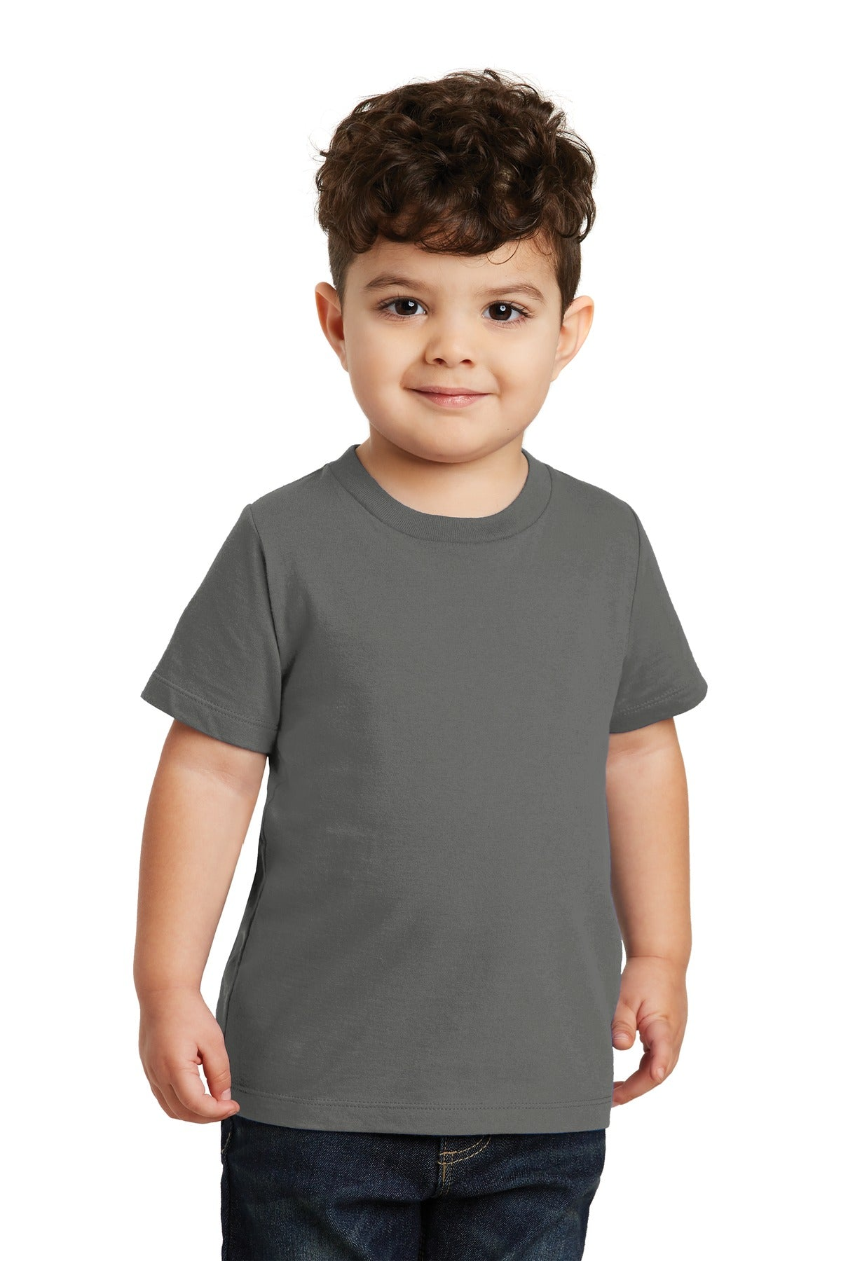 Charcoal Port & Company Toddler Fan Favorite T-Shirt