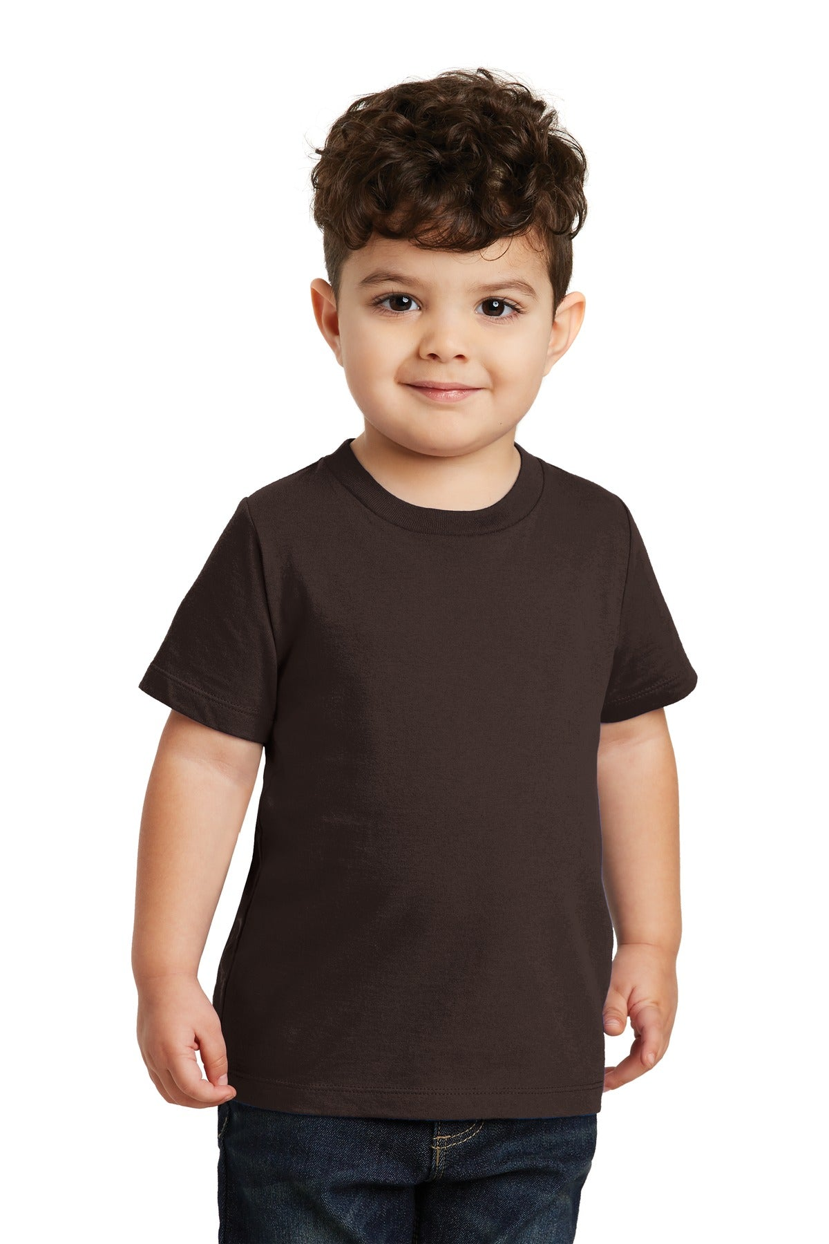 Dark Chocolate Brown Port & Company Toddler Fan Favorite T-Shirt
