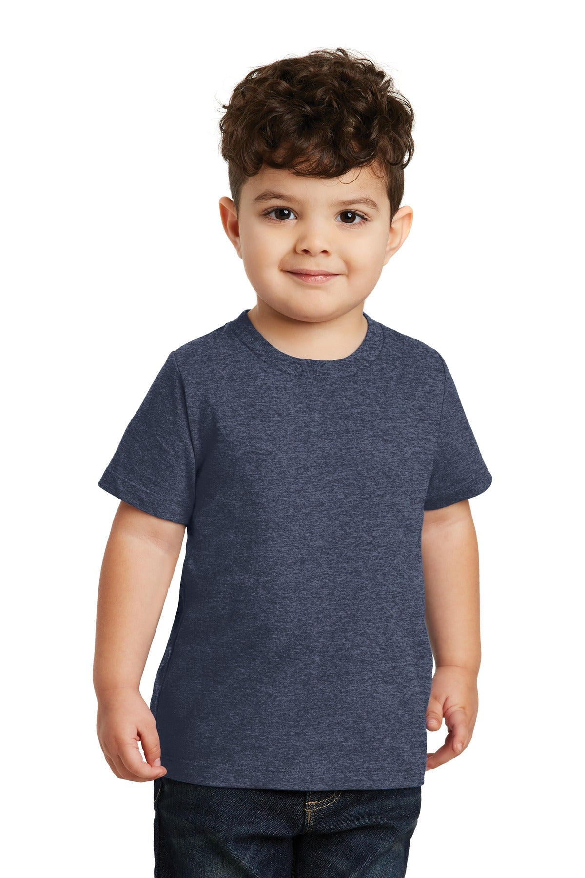 Heather Navy Port & Company Toddler Fan Favorite T-Shirt
