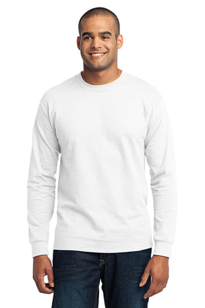 White Port & Company Tall Long Sleeve Core Blend T-Shirt