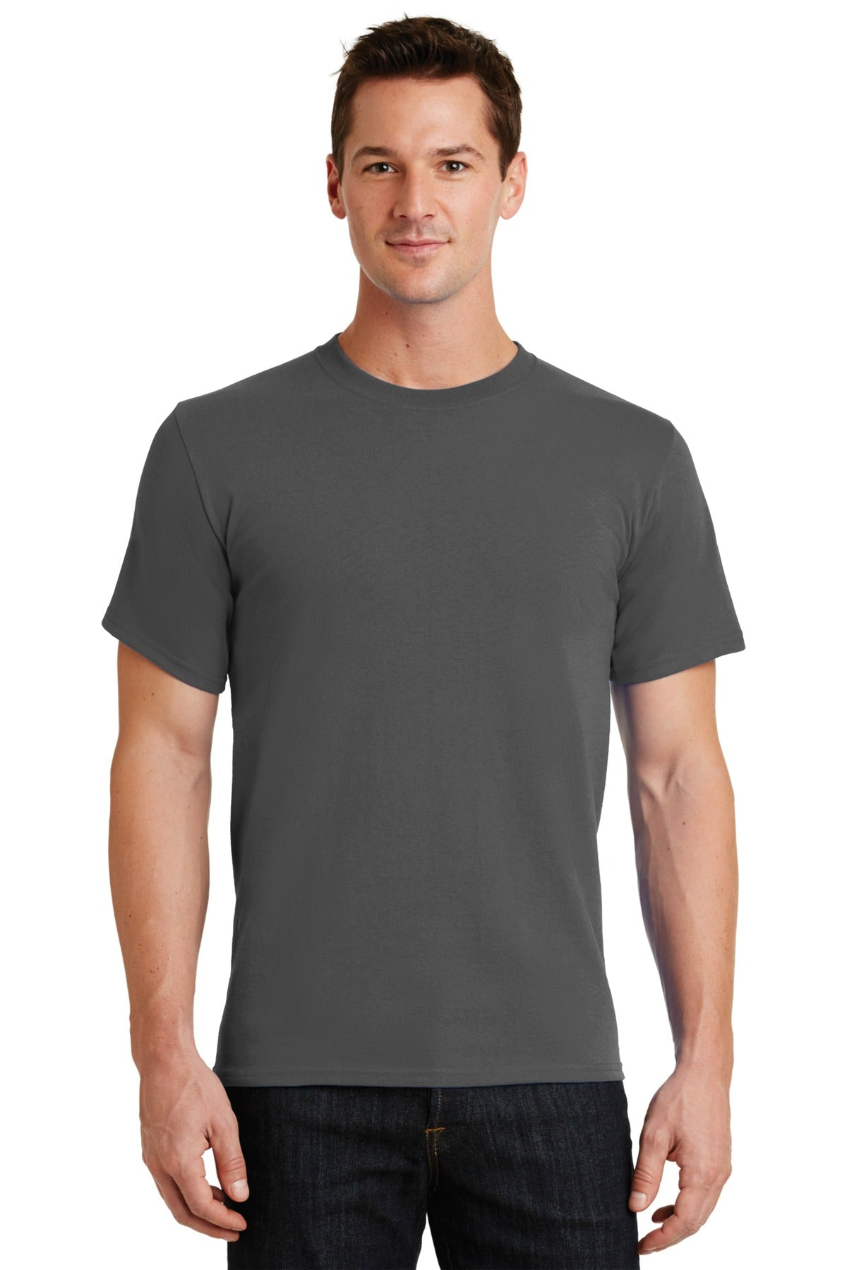 Charcoal Port & Company - Essential T-Shirt