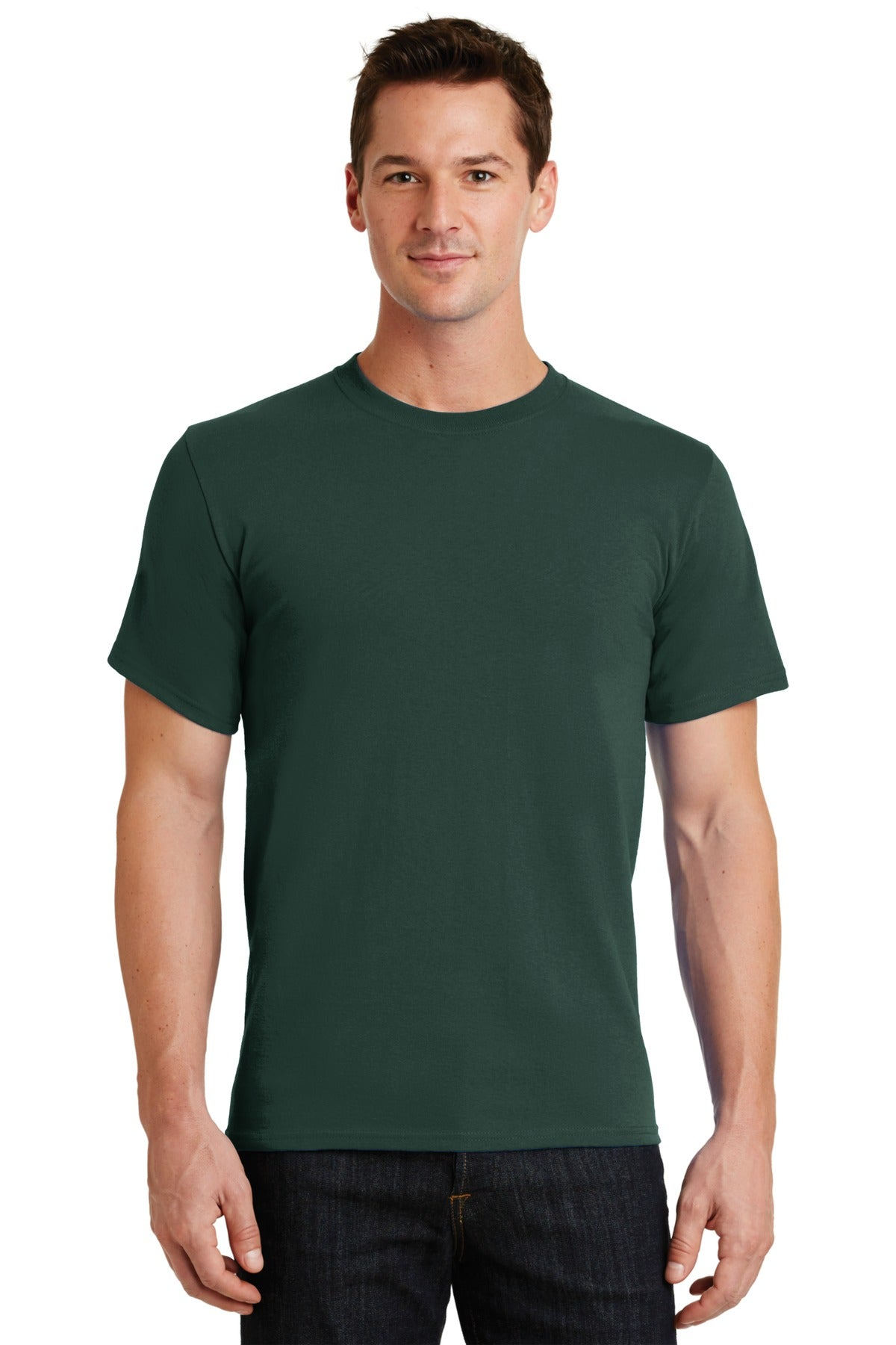 Dark Green Port & Company - Essential T-Shirt