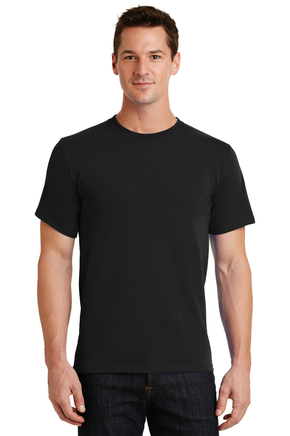 Jet Black Port & Company - Essential T-Shirt