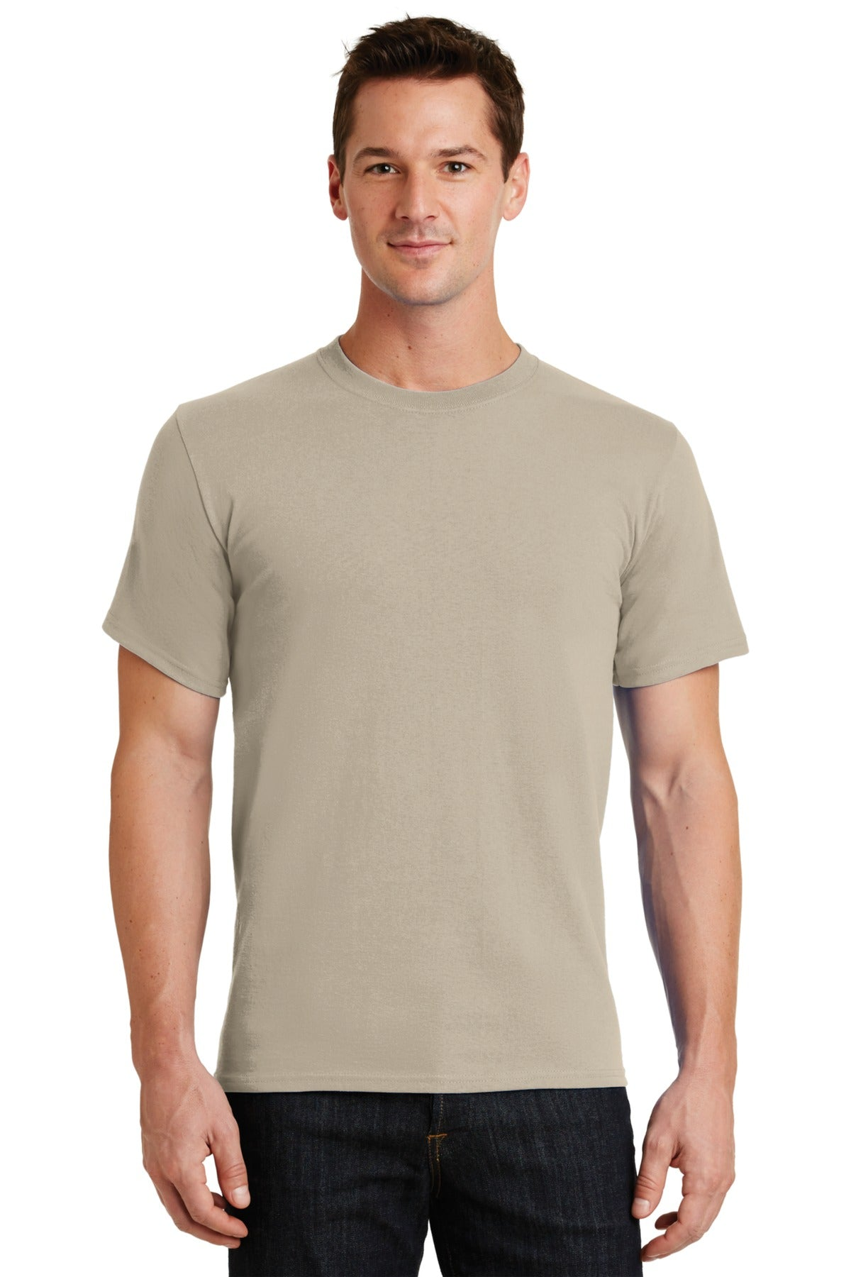Light Sand Port & Company - Essential T-Shirt