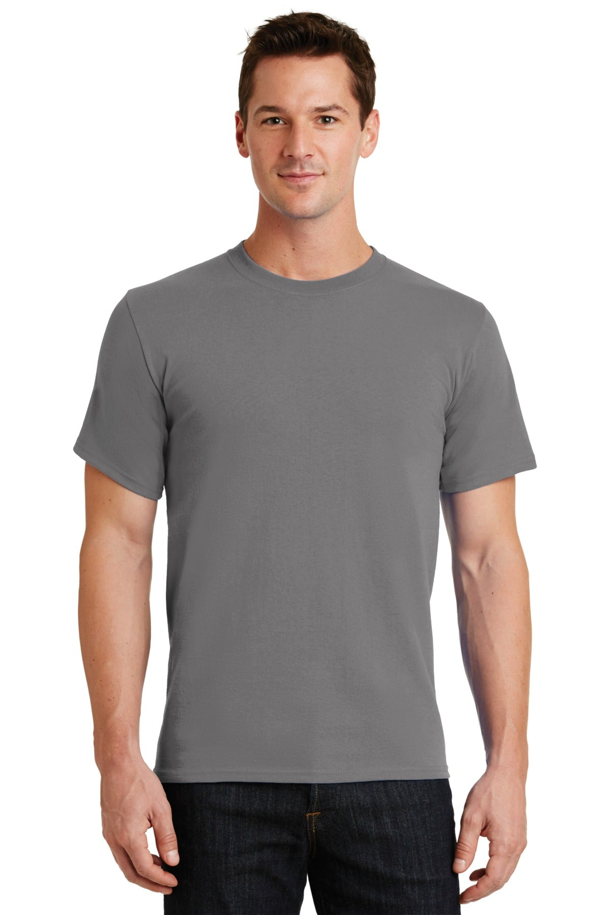 Medium Grey Port & Company - Essential T-Shirt