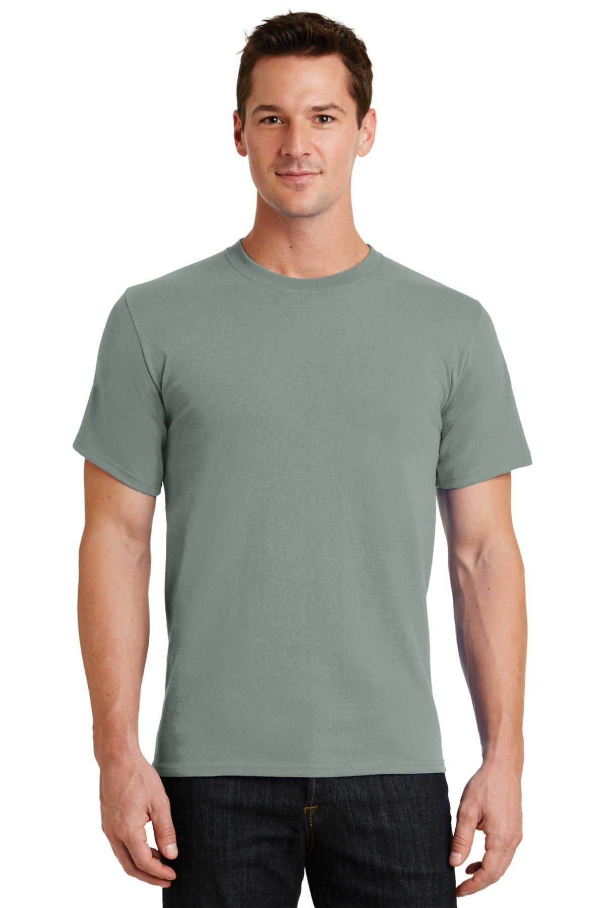 Stonewashed Green Port & Company - Essential T-Shirt