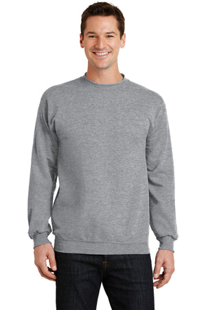 Athletic Heather Port & Company - Core Fleece Crewneck Sweatshirt.